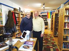 Gay-couple-talk-relationship-new-Oak-Park-bookstore