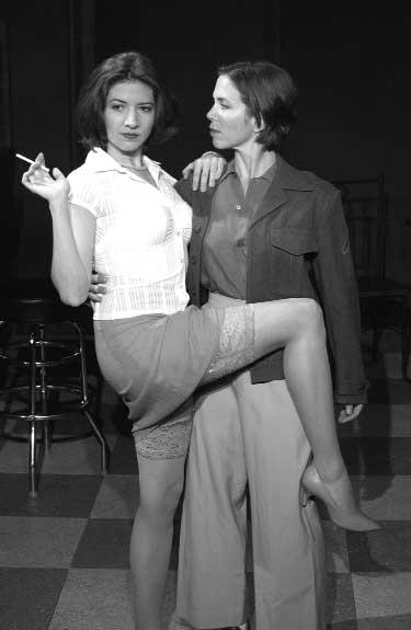 Lesbians with leg cast