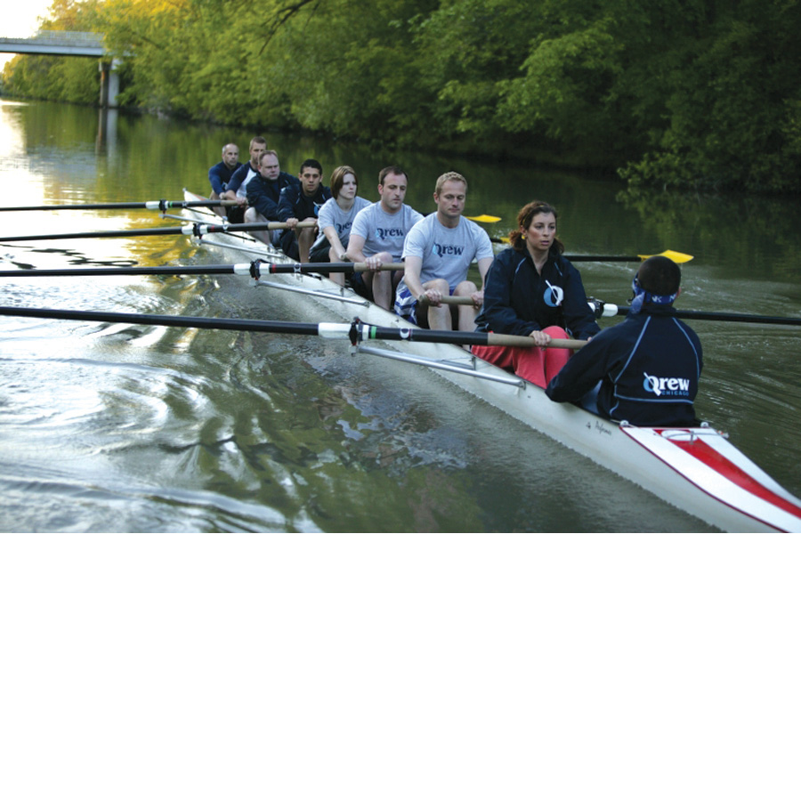 A group of fairly inexperienced rowers, all interested in competing in the 2006  Gay Games in Chicago, founded Qrew Chicago in 2005.