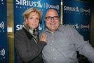 Meredith Baxter and SIRIUS XM host Frank DeCaro at SIRIUS XM's studios this week. Photo by Maro Hagopian