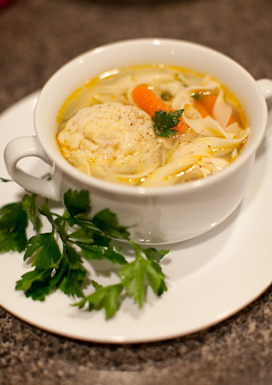 4328 - AMUSE BOUCHE: SOUP SERIES Chicken noodle soup with matzo balls ...