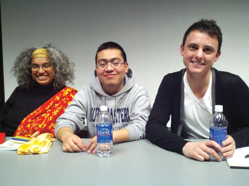 From left: Yasmin Nair, Jesus Palafox and Owen Daniel-McCarter. Photo by Carrie Maxwell