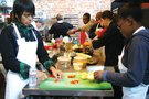 Global Citizenship Experience student cooking.