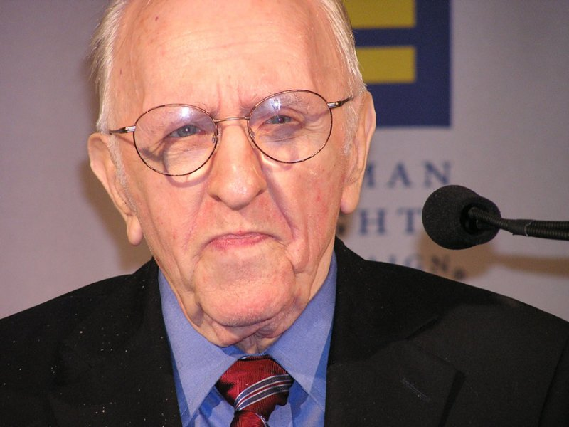 Frank Kameny at an HRC event in Washington, D.C. Oct. 6, 2006. Photo by Tracy Baim/Windy City Times