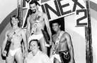 Flint with the winners of Mr. Annex 2 in 1982.