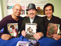 From left: Charles Rice-Gonzalez and Alfonso Ramirez and Jesus Ramirez-Valles. Photo by Carrie Maxwell