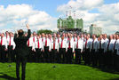 Performance of National Anthem at Wrigley Field. Photo from Ken Puttbach