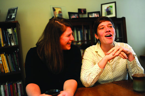 Host home couple Erin Edwards and Liz Przybylski. Photos by Bill Healy.