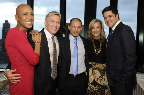 From left: Robin Roberts, Sam Champion, Rubem Robierb, Lara Spencer and Josh Elliott. Photo by Ida Mae Astute/ABC