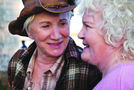 Olympia Dukakis (left) and Brenda Fricker in Cloudburst.