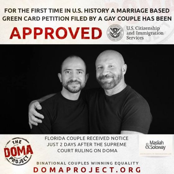 Gay marriage immigration green card