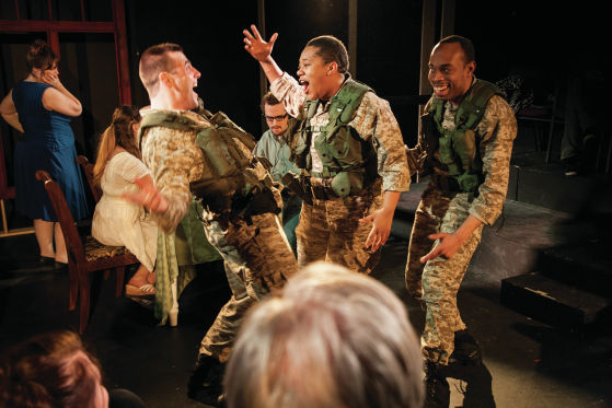 THEATER REVIEW Three Soldiers (for Sisters)