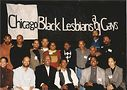 Chicago Black Lesbian and Gays, 1990s, with Gray, back row, 5th from right. Photo by Israel Wright