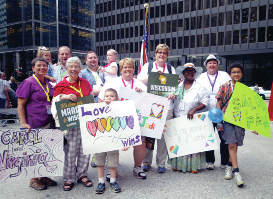Indiana, Wisconsin couples rally before marriage hearing
