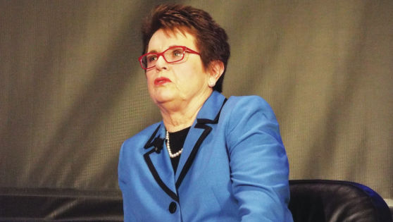 Billie Jean King takes fair shot at equality at CFW luncheon