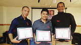 Award recipients Jose Ramos, Jerry Rivera and Manny Ahorrio. Photo by Carrie Maxwell