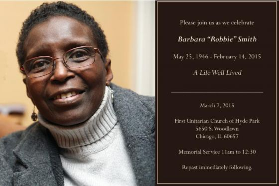 "PASSAGES Barbara ""Robbie"" Smith, services March 7"