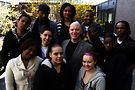 Kevin Ryan (middle) with Covenant House youth. Photo courtesy of Covenant House