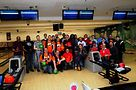 Bowlers and supporters at the event. Photo by Hal Baim