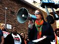 Colleen Daley of the Illinois Council Against Handgun Violence at Chicago vigil in Boystown. Photo by Gretchen Rachel Hammond