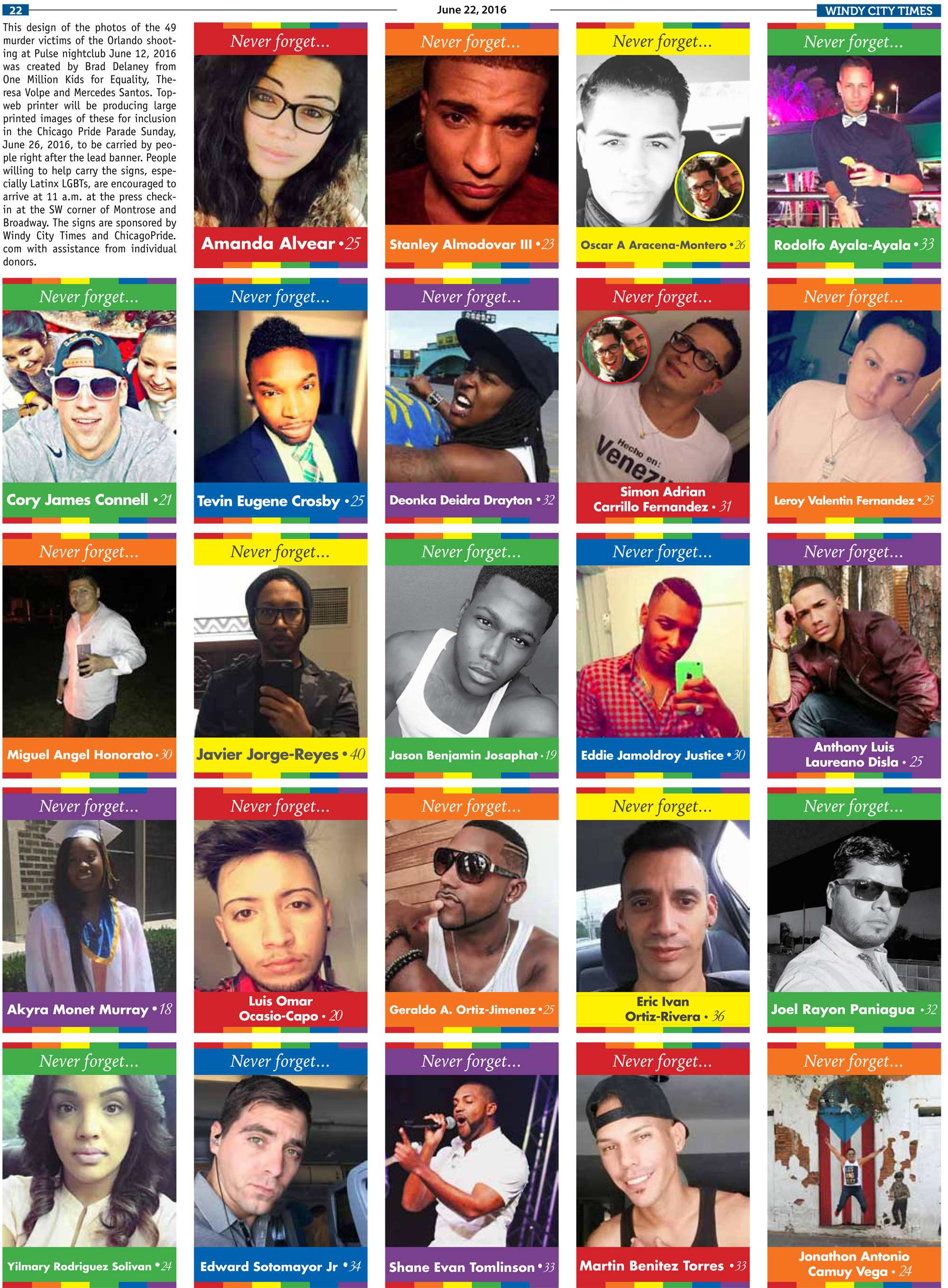 Never forget: The faces of Orlando