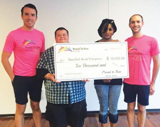 Proud to Run presents checks totaling $50K