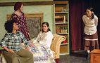Aziza Macklin and Joe Lino in Women.Women, Cuckoo's Theater 2017_Aziza Macklin, Emily Lindberg_Jillian, Leff Francesca Atian. Photo by CandiceLee Conner