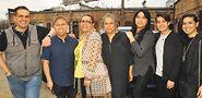 From left: Lalo Aguayo, Emmanuel Garcia, Tanya Cordova, Alexis Martinez, Reyna Ortiz, June Rodriguez and Karari Olvera Orozco.Photo by Vern Hester