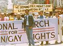 Renslow at the 1970 gay-rights March on Washington.
