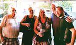Robert Child, Sabrina Child, Patricia Child-Prairie, Rick Karlin and Adam Karlin at the parents' gathering.Photo by Nina Matti