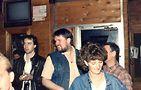 Touche owner Chuck Rodocker at Touche's 10th anniversary (center). Photo courtesy of David Boyer