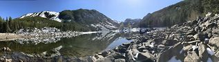 Day three: Panoramic shot of Lava Lake in the Gallatin Mountains. Photo by Kirk Williamson