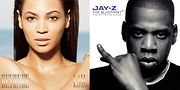 Beyonce and Jay-Z album covers.