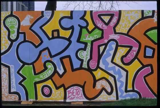126 - Keith Haring The Chicago Mural exhibit showing at Cultural Center -  Gay Lesbian Bi Trans News Archive - Windy City Times 502595d6d