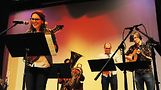 Devin Clara Fanslow and her ensemble, Sneaky Archer. Photo by Vern Hester