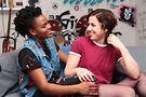 In ThroatPunch, Tarina Bradshaw (Cyn), Alicia Jade (Nat). Photo by Travon Christon Printis