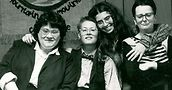 Walowitz (left) with Laurie Lee Moses, Sharon Karp and Ella Szekely at Mountain Moving Coffeehouse circa 1980. From GayLife archives