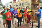 Members of The Chicago Gay Men's Chorus perform as part of WFMTs tribute to Leonard Bernstein. Photo by Vern Hester