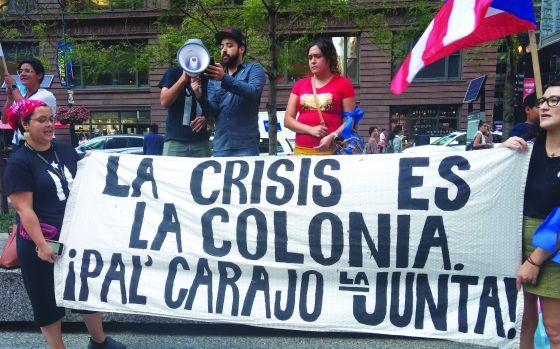316 - Puerto Rican solidarity groups protest Trump
