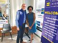 Human Rights Campaign President Chad Griffin with Lauren Underwood.Photo courtesy of Will McCullough