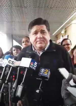 ELECTIONS 2018 Pritzker holds press conference, talks LGBT issues