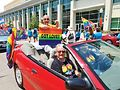 Aurora Pride, with the grand marshal, Paramount Theater Artistic Director Jim Corti.Photo by Carrie Maxwell