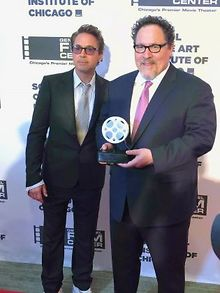 MOVIES-Jon-Favreau-honored-as-Robert-Downey-Jr-attends-event
