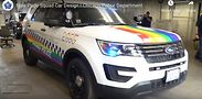 """The CPD's """"Pride Squad Car."""" Screen shot from CPD video/YouTube"""