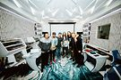 Steve Aoki (third from right) and the Backstreet Boys. PR photo