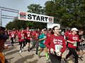 5K unners begin the race. Photo by Carrie Maxwell