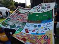 NAMES Project AIDS Memorial Quilt presentation. Photo by Carrie Maxwell