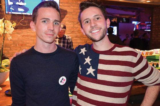 LGBTQ HRC/CNN town hall watch party held at Sidetrack