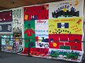 Part of the AIDS Memorial Quilt. Photo by Tarina Hargrays