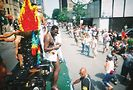 Troy Winston (on float at Pride Parade). Photo by Lugo Rosado